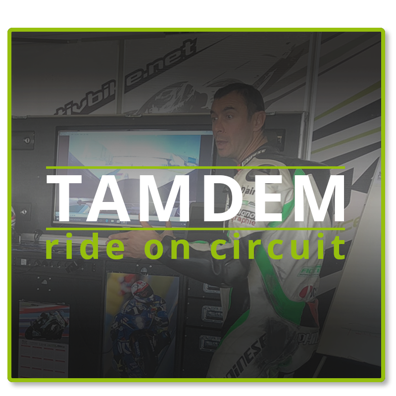 Treat yourself or your loved ones a tandem ride on speed circuit, 3 laps behind a world champion