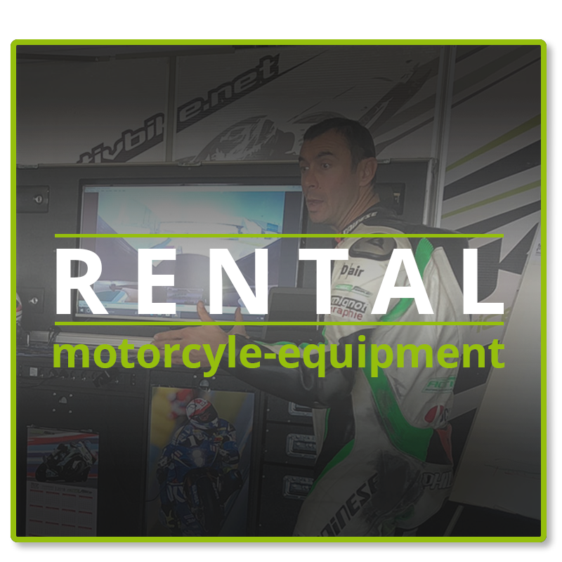 Motorcycle or equipment rental to drive on a track day on speed circuit
